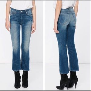 MOTHER INSIDER CROP Double Trouble High Rise Sz 25